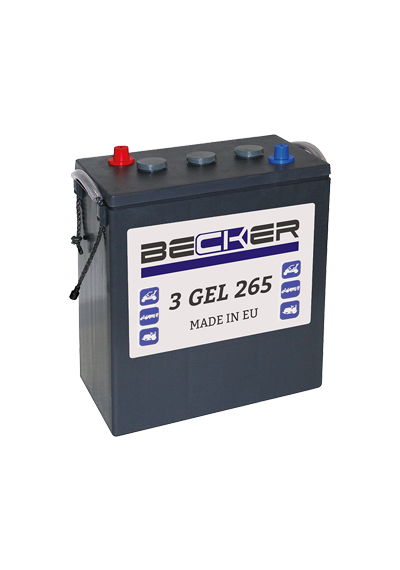 Аккумуляторная батарея BECKER 3 GEL 265 (6V 265Ah)